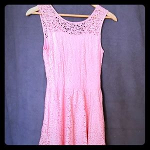 Girls Lace Knit Dress